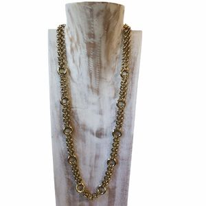 Vintage big chain gold fashion jewelry necklace